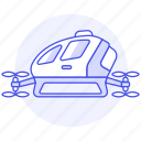 aerial, aircraft, drone, passengers, taxi, vehicle icon