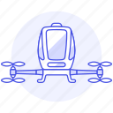 aerial, passengers, aircraft, vehicle, taxi, drone icon