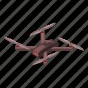 camera, cartoon, drone, isometric, silhouette, spy, technology