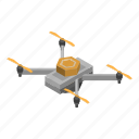 cartoon, clip, drone, eye, isometric, sensor, technology