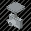 camera, cartoon, drone, frame, isometric, logo, silhouette