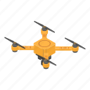 business, cartoon, control, drone, isometric, technology, yellow