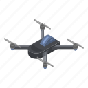 aerial, cartoon, copter, drone, isometric, silhouette, technology