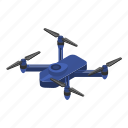 blue, cartoon, computer, drone, isometric, silhouette, technology