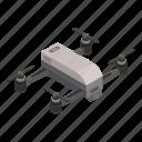 business, cartoon, drone, isometric, logo, modern, small