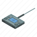 car, cartoon, control, drone, isometric, radio, remote