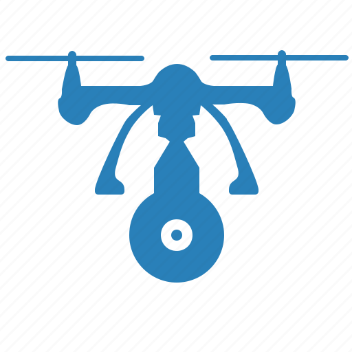 blue, cam, camera, drone, monitoring, security icon