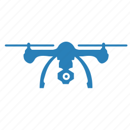 blue, cam, camera, drone, helicopter, record, security icon