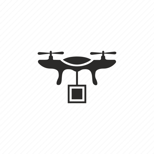 delivery  drone  fly  robot icon