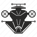 drone, mashine, robot, space, star, wars icon