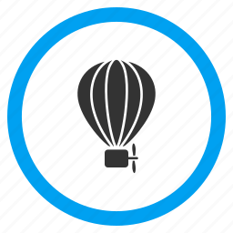 adventure, aerostat, airship, balloon, flight, sky fly, transportation icon