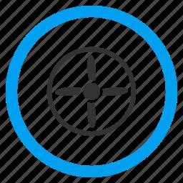 aircraft propeller, airscrew, motor, rotor, screw, turbine, windmill icon
