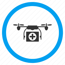 aircraft, airdrone, ambulance, flying drone, medical copter, medicine, quadcopter icon
