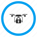 aircraft, cargo drone, copter delivery, departure, load, start, take off icon