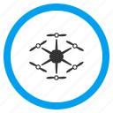 airdrone, flying drone, hex copter, hexacopter, multicopter, multirotor, radio control uav icon