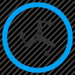 air cooler, motor, propeller, rotor, screw rotation, three bladed, turbine icon