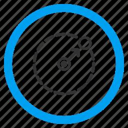 border, circular area, limits, perimeter, radius, region, selected icon