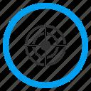 aim, bullseye, destination, marketing, objective, point, target icon