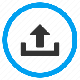 export, load, move, send, transfer, up arrow, upload icon