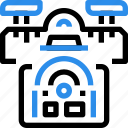 control, delivery, drone, flying, robot, transport, vehicle icon
