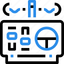 control, delivery, flying, remote, robot, transport, vehicle icon