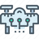 connect, delivery, drone, flying, robot, transport, vehicle icon
