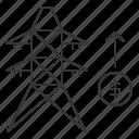 energy, money, power, profits, tower, transmission