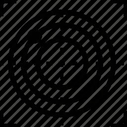 bullseye, locate, location, target icon