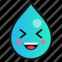 droplet, emoji, funny, laugh icon