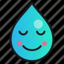 droplet, emoji, pleased, satisfied icon