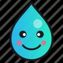 droplet, emoji, happy, smile
