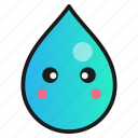 droplet, emoji, lost, speechless icon