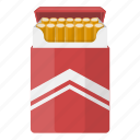 cigarettes, drug, nicotine, pack icon