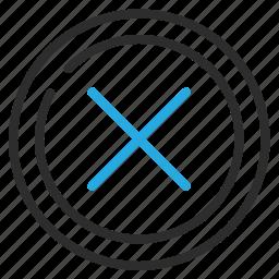 cancel, clear, delete, no, remove icon
