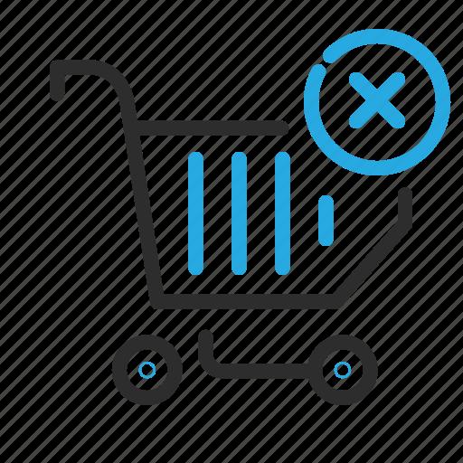 cart, delete, ecommerce, empty, remove, shopping icon