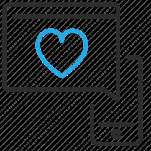 heart, love, mobile, smartphone, window icon