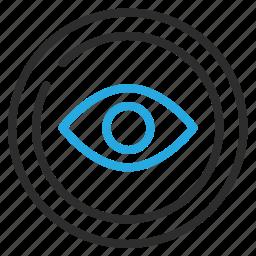 detail, eye, inspect, view icon