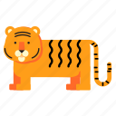 animal, safari, tiger, wild, zoo icon