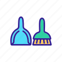 brush, cleaner, domestic, dustpan, equipment, sweeping, tool icon