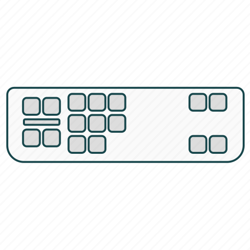 cable, connector, dvi, dvi-a, video, video display interface icon