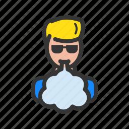 cloud, e-cigarettes, vape, vaper icon