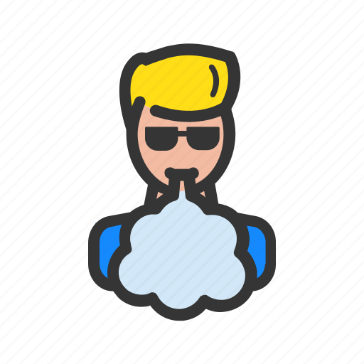 cloud, e-cigarettes, vape, vaper icon