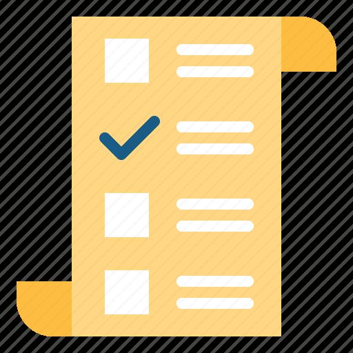 check, checking, checklist, list icon