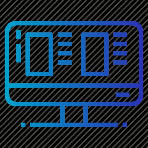 computer, screen, website icon