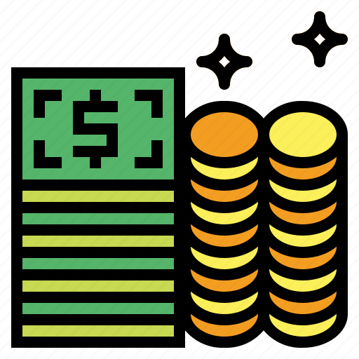 and, business, cash, change, coins, currency, money icon