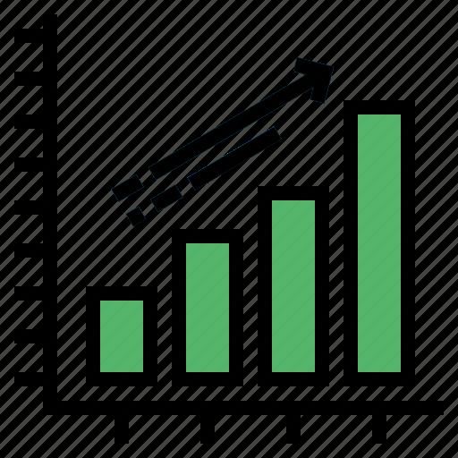 business, finances, graph, statistics, stats icon