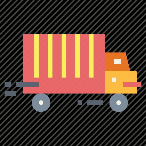 shipping, transport, truck, trucking icon
