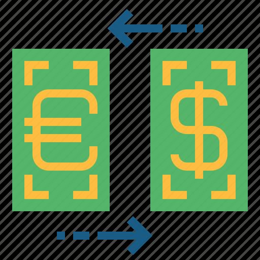 business, dollar, exchange, finances, money, yen icon