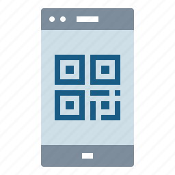 and, blackberry, code, commerce, qr, smartphone, technology icon