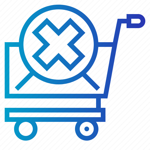 and, basket, cancel, commerce icon